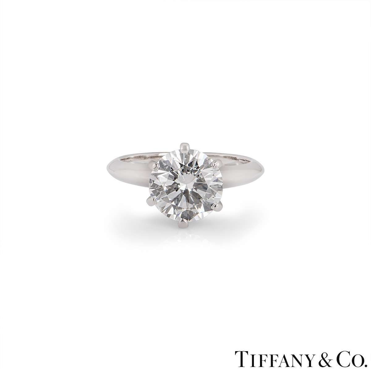 Tiffany & Co. Round Brilliant Cut Diamond Ring 2.35ct I/VVS2